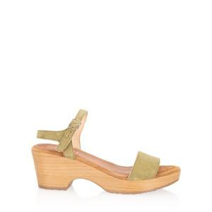 Gemini Label  Aneka Icon Suede Wedge Sandal