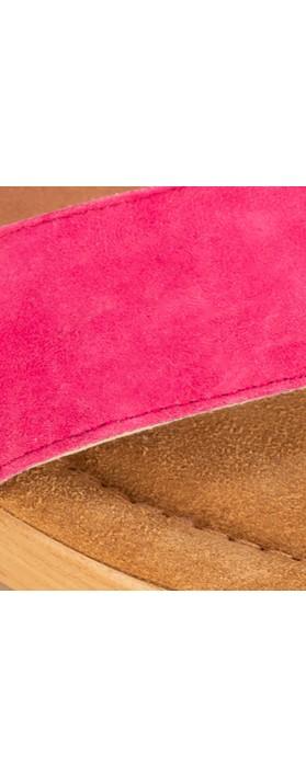 Gemini Label Shoes Aneka Icon Fresa Pink Suede Wedge Sandal Fresa Pink