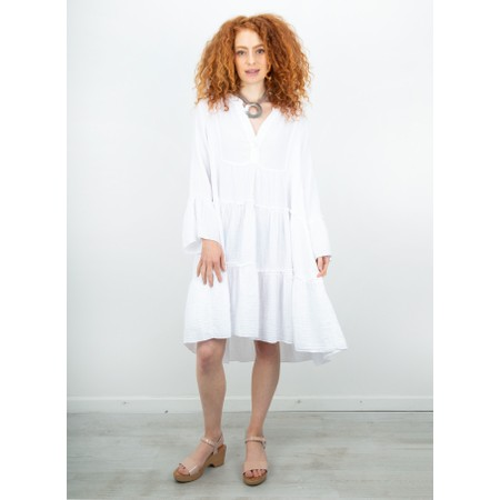 TOC  Kyra Boho Style Tiered Dress - White