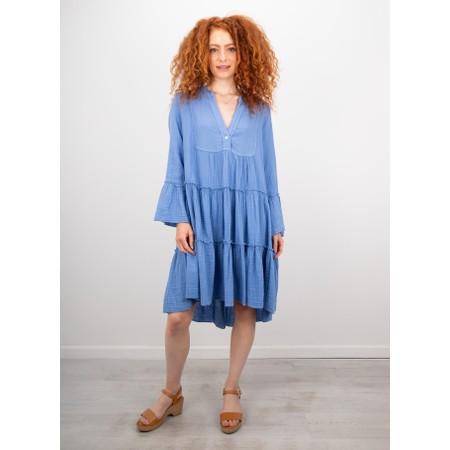 TOC  Kyra Boho Style Tiered Dress - Blue