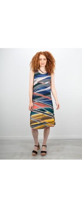 Focus Sleeveless Printed Dress Snake
