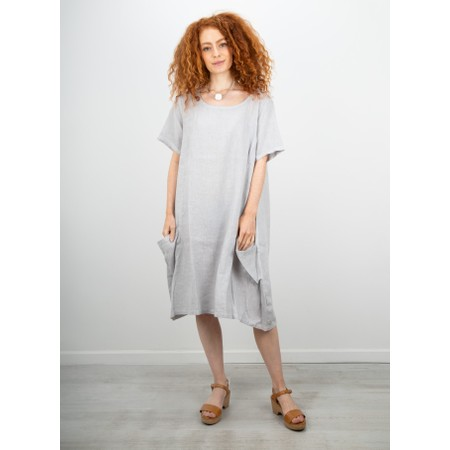 Focus Linen Pocket Dress - Metallic