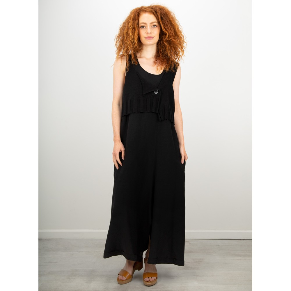 Crea Concept Knit layered Dress Black
