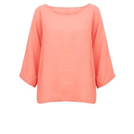TOC  Billie Linen Mix Easy Fit Top - Orange