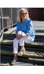 Gemini Label Shoes Jeans Blue Aneka Icon Jeans Blue Suede Wedge Sandal