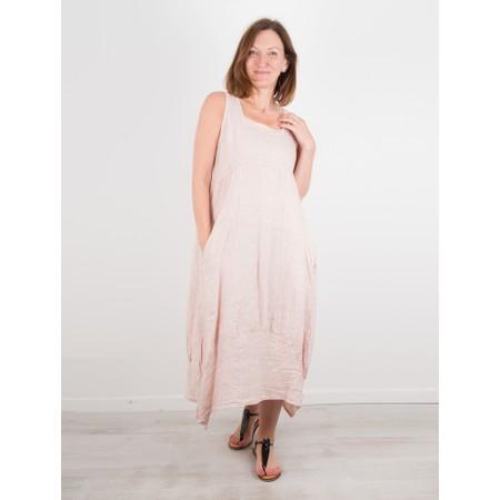 TOC  Demelza Linen Dress - Pink