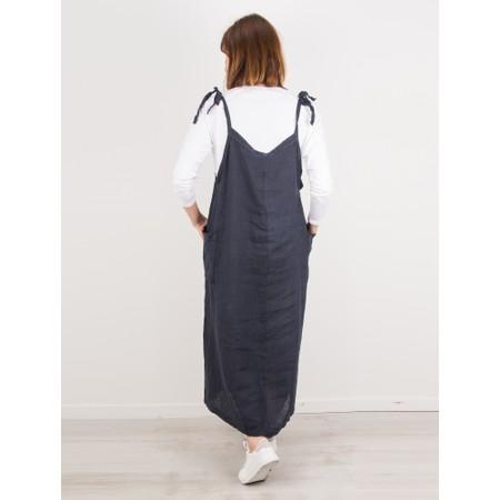 TOC  Dena Linen Pinafore Dress - Blue