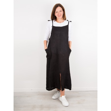 TOC  Dena Linen Pinafore Dress - Black