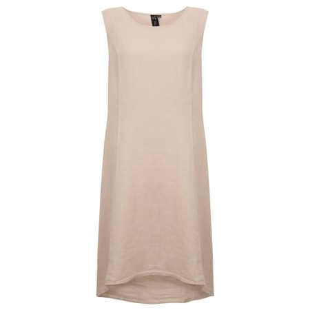 Focus Sleeveless Linen Dress - Metallic