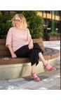 Gemini Label Shoes Fresa Pink Aneka Icon Fresa Pink Suede Wedge Sandal