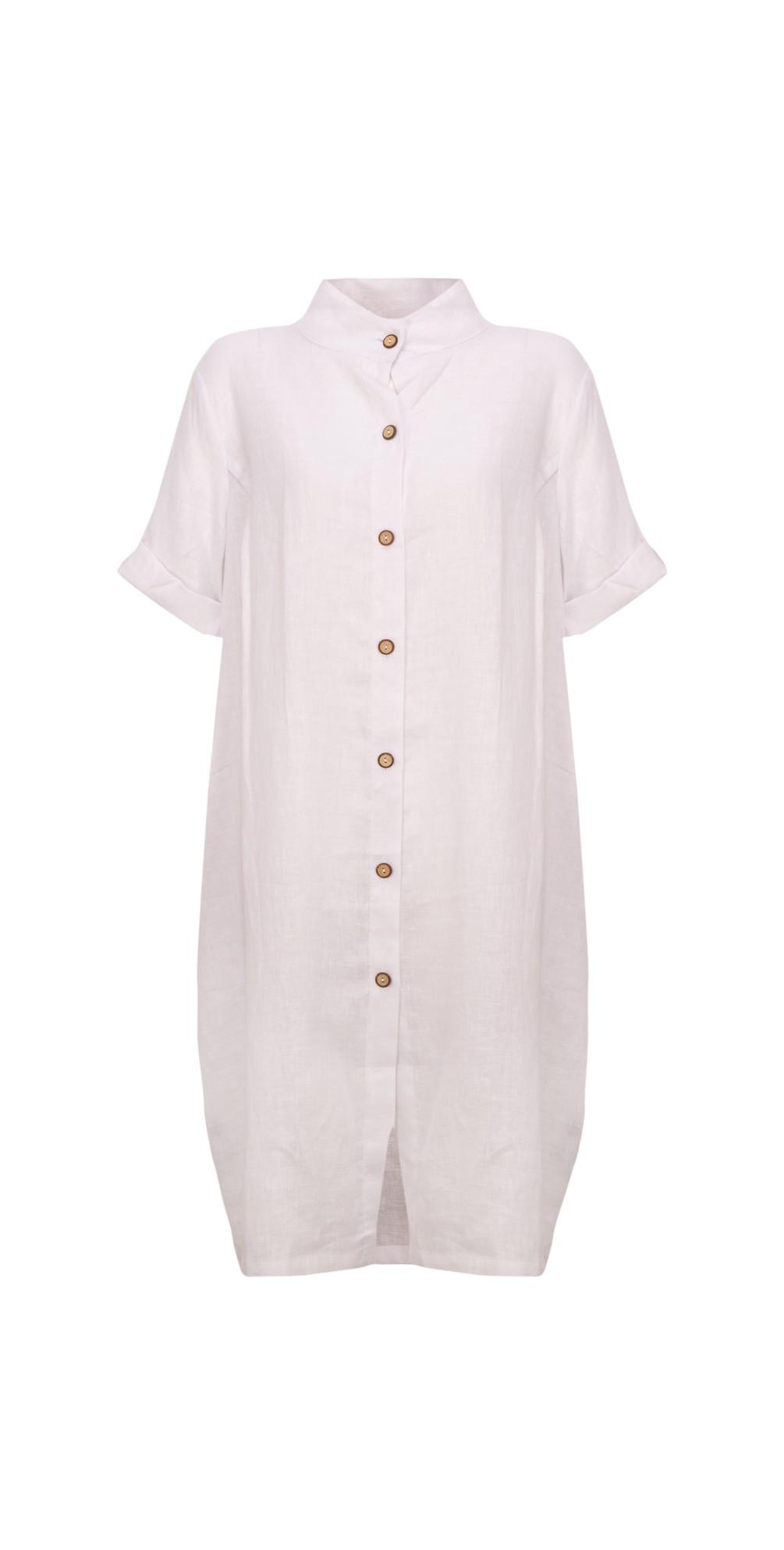 Linen Shirt Dress main image
