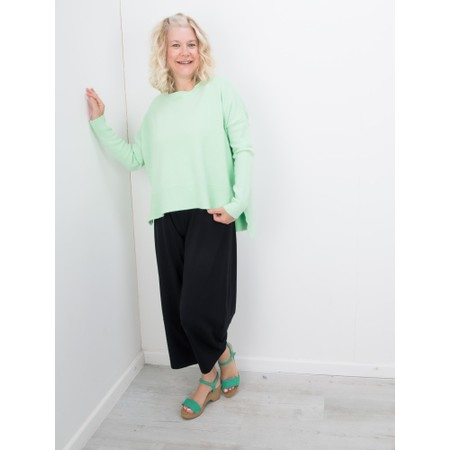 Amazing Woman  Judy SuperSoft Highlow Jumper - Green