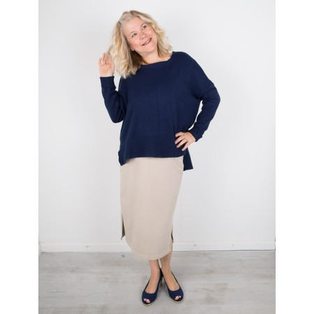 Amazing Woman  Judy SuperSoft Highlow Jumper - Blue