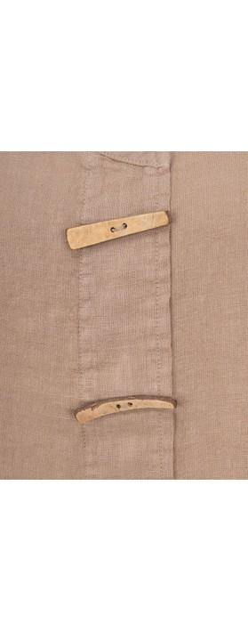 Focus Longline Linen Tunic Taupe