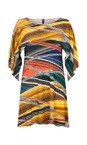 Focus Snake Shawl Sleeve Printed Tunic