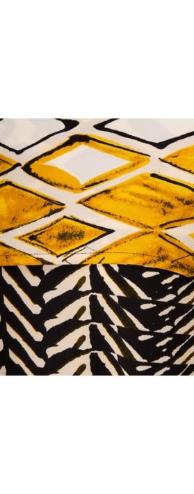 Focus Shawl Sleeve Printed Tunic Stripe