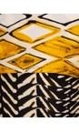 Focus Stripe Shawl Sleeve Printed Tunic