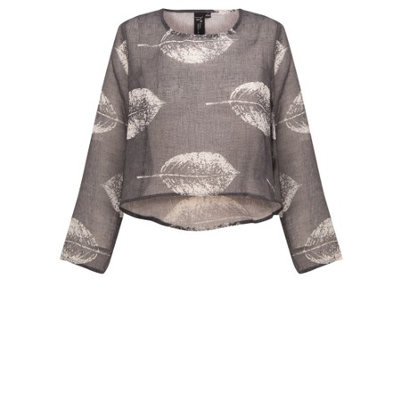 Focus Leaf Print L/S Top - Multicoloured