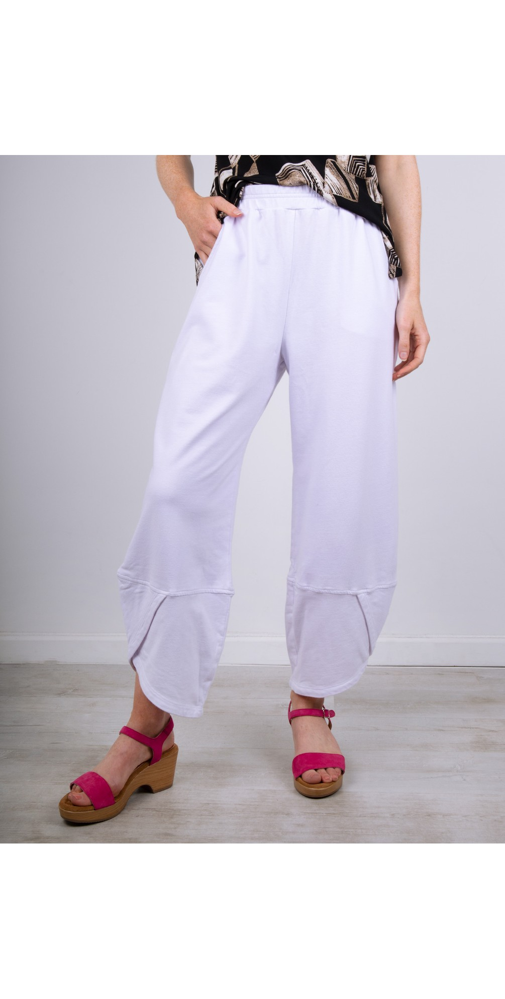 Wide Jersey 3/4 Trouser main image