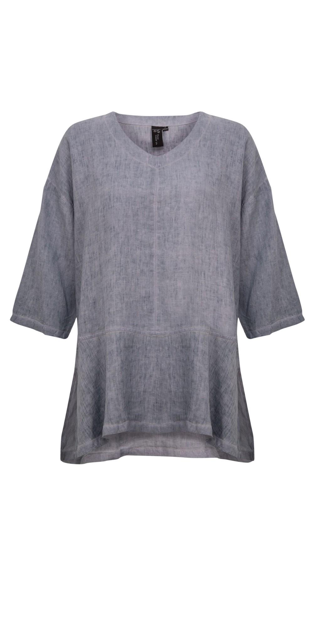3/4 Sleeve Linen Tunic main image