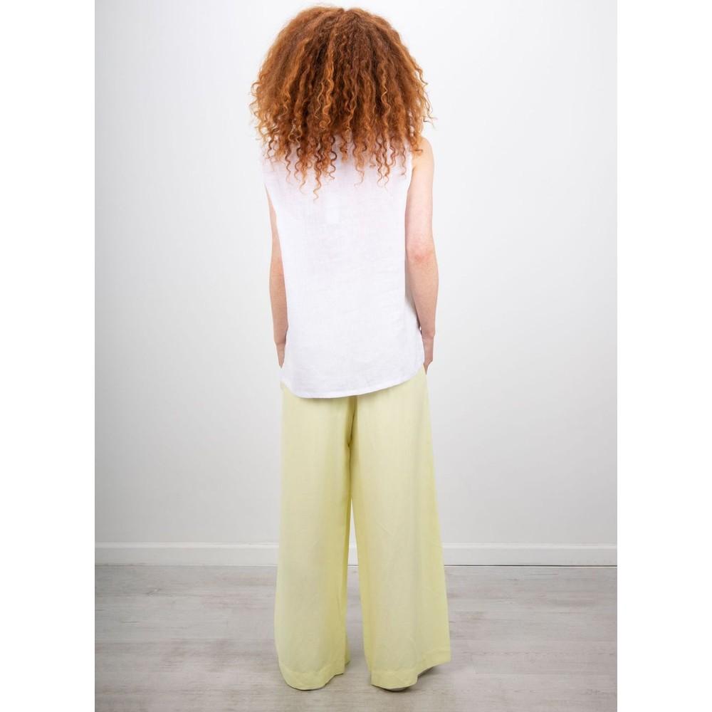 Focus V Back S/L Linen Top White