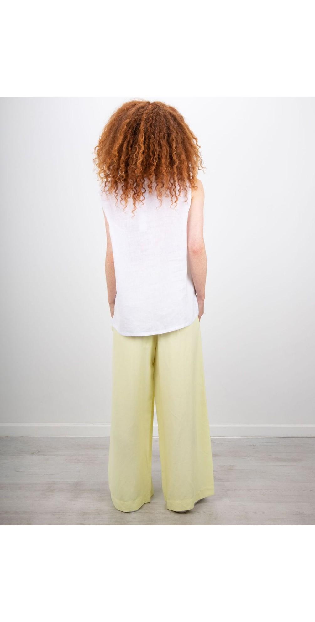 V Back S/L Linen Top main image