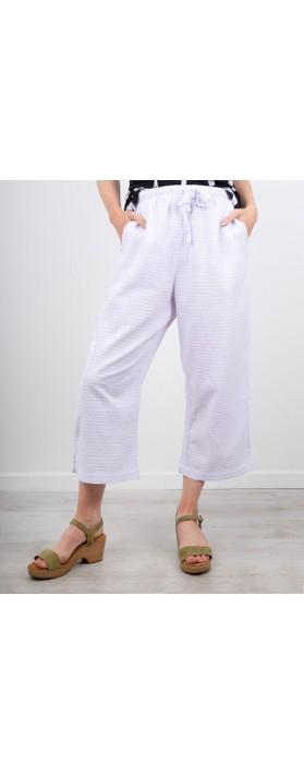 Focus 3/4 Wide Leg Trouser White