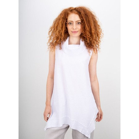 Focus Cowl Neck A-Line Top - White