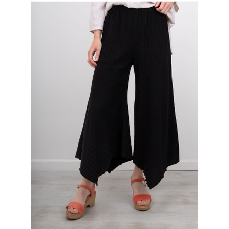 Focus Ribbed Culotte - Black