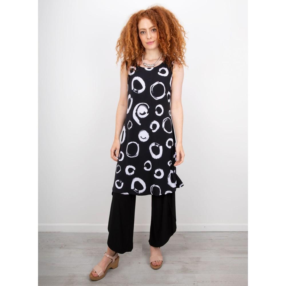 Focus Sleeveless Print Dress Polka Dot Black