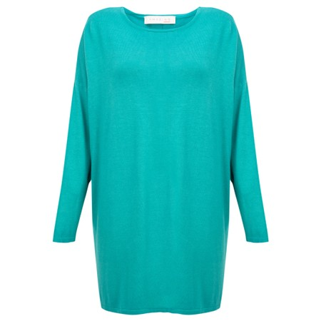 Amazing Woman  Welles Supersoft Fine Knit Button Back Jumper  - Green