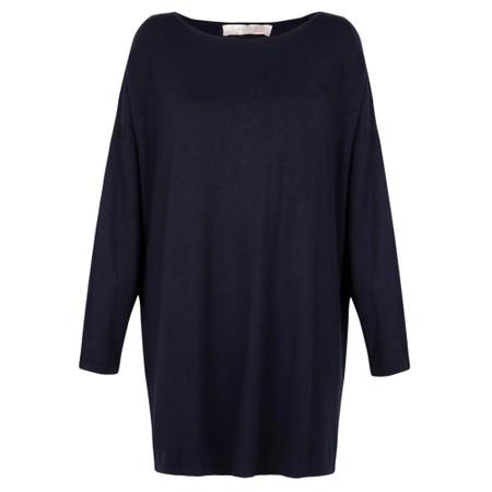 Amazing Woman  Welles Supersoft Fine Knit Button Back Jumper  - Blue