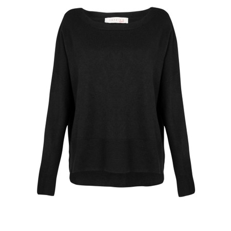 Amazing Woman  Judy SuperSoft Highlow Jumper - Black