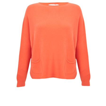 Amazing Woman  Jodie Front Pocket Supersoft Knit Jumper - Orange