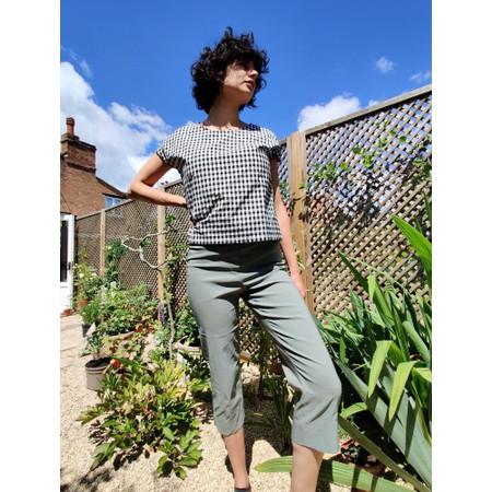 Robell  Marie 07 Khaki Cropped Trouser - Green