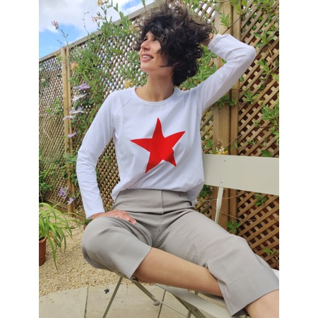 Chalk Gemini Exclusive ! Tasha Star Top - White