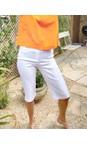 Robell White 10 Bella 05 White Slimfit Short