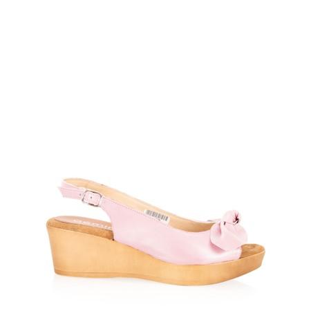 Gemini Label  Bunny Wedge Sandal  - Pink