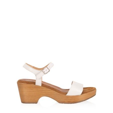 Gemini Label  Aneka Icon Leather Wedge Sandal - White