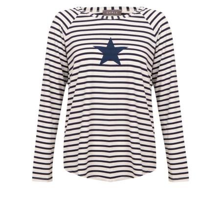 Chalk Tasha Stripe Small Star Top - Blue