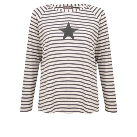 Chalk Tasha Stripe Small Star Top - Grey