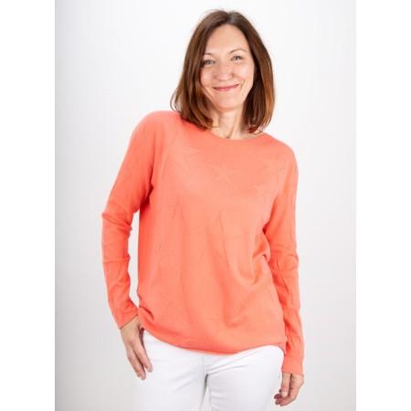 Amazing Woman  Hidden Star Supersoft Easyfit Jumper - Orange