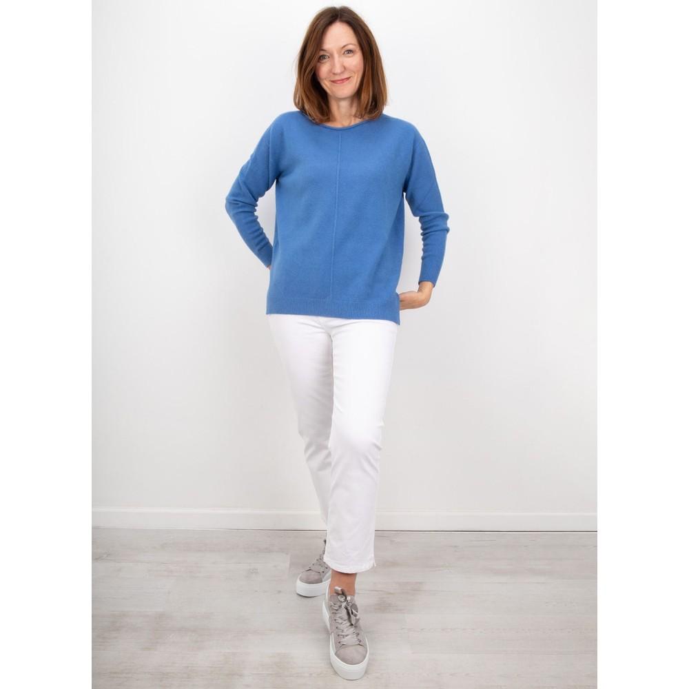 Amazing Woman Maggie Seam Front Supersoft Jumper Summer Blue