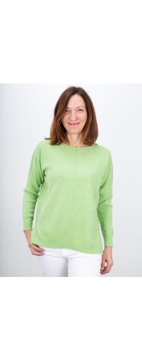 Amazing Woman Maggie Seam Front Supersoft Jumper Summer Green
