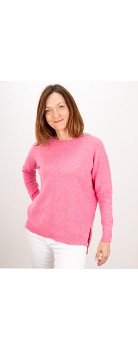 Amazing Woman Maggie Seam Front Supersoft Jumper Azalea Pink