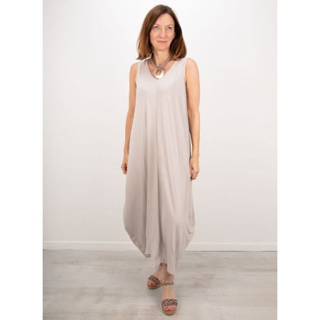 Gemini Label  Iman Balloon Sleeveless Dress - Grey