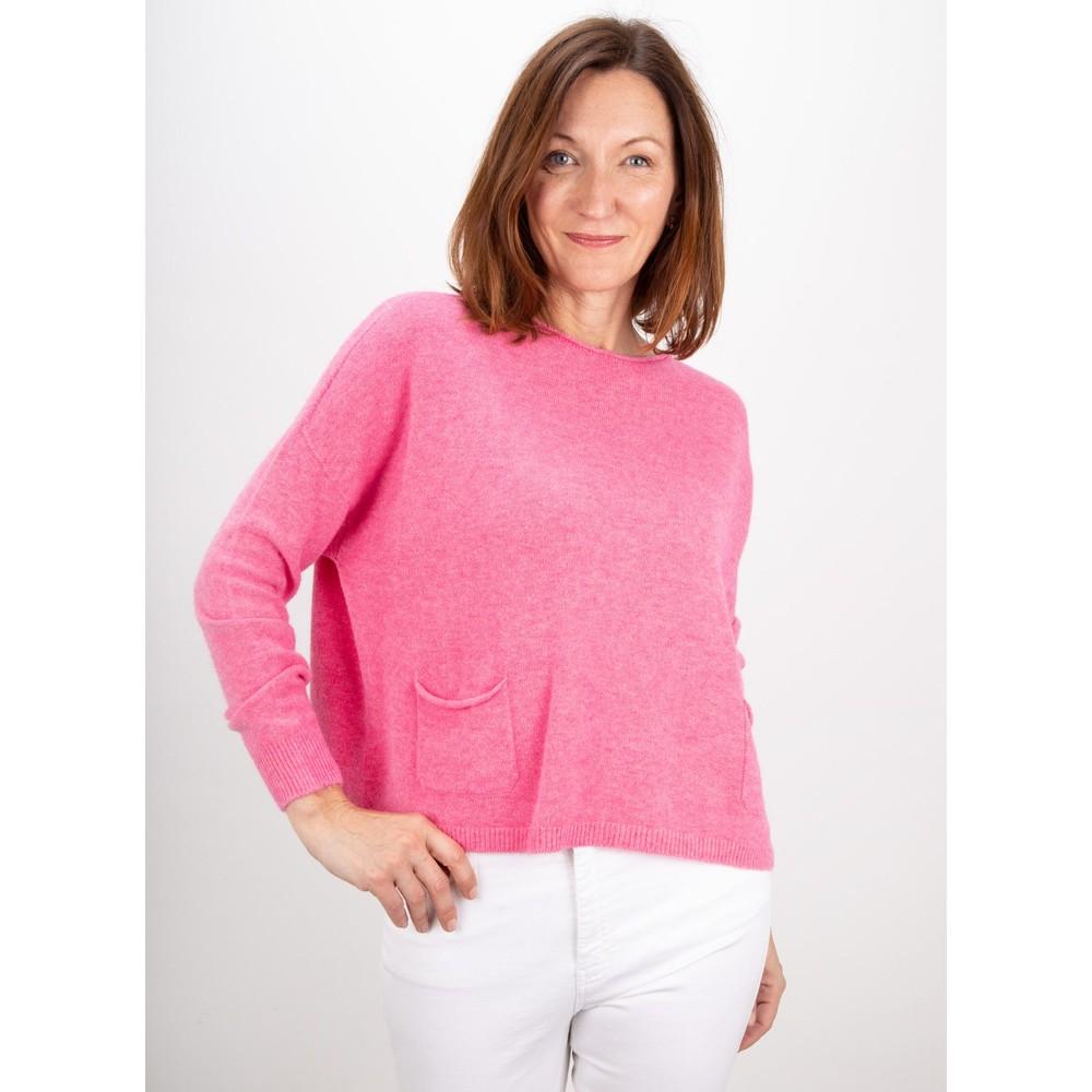 Amazing Woman Jodie Front Pocket Supersoft Knit Jumper Azalea Pink