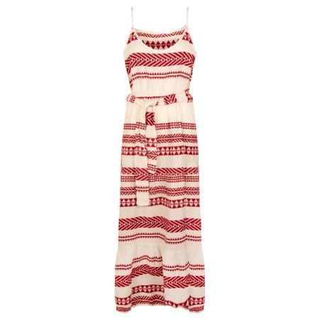 TOC Alaia Greek Style Strappy Maxi Dress - Red