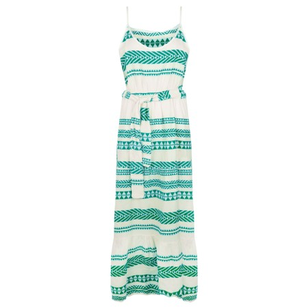 TOC  Alaia Greek Style Strappy Maxi Dress - Turquoise