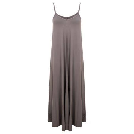 Gemini Label Clothing Zadie Maxi Strap Dress - Grey